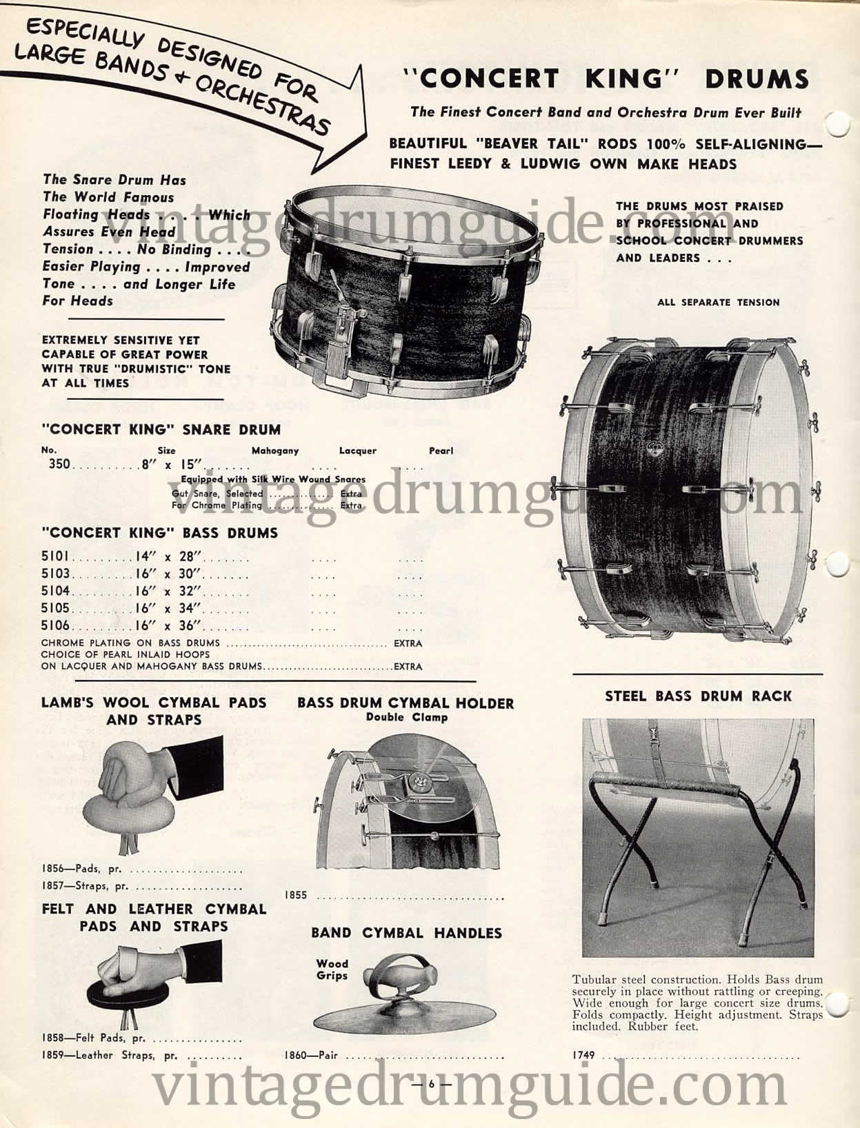 Leedy Drum Company History Badge Snare Diagram